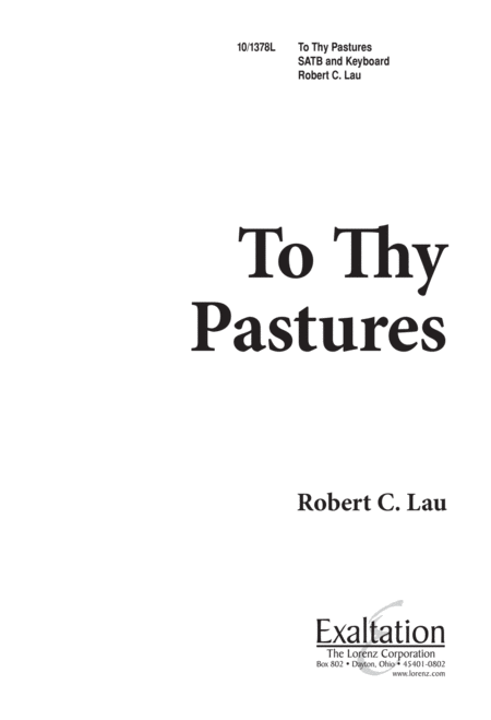 To Thy Pastures