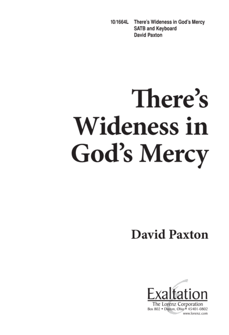 There's a Wideness in God's Mercy