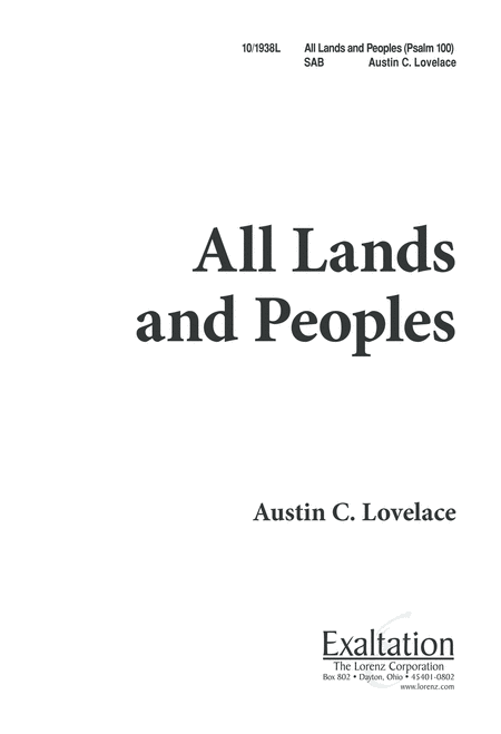 All Lands and Peoples