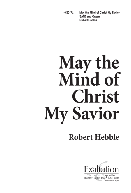 May the Mind of Christ, My Savior