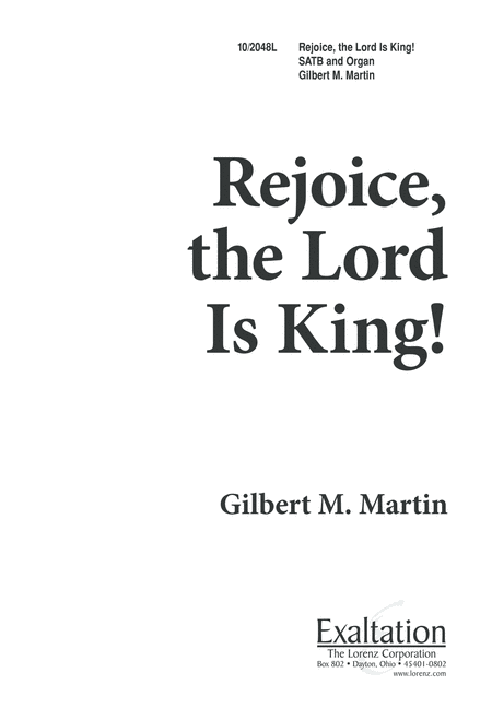 Rejoice! The Lord is King