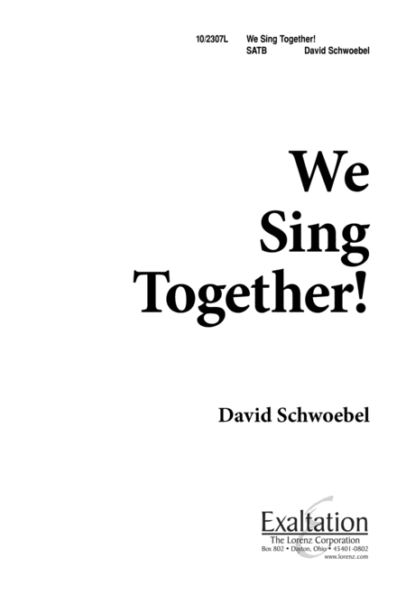 We Sing Together