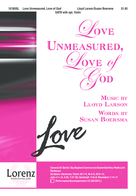 Love Unmeasured, Love of God