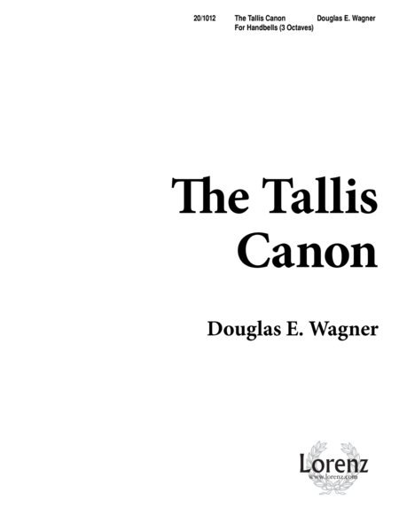 The Tallis Canon
