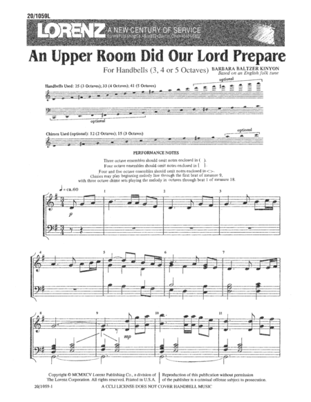 An Upper Room Did Our Lord Prepare