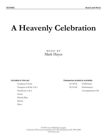 A Heavenly Celebration - Brass and Rhythm Score and Parts