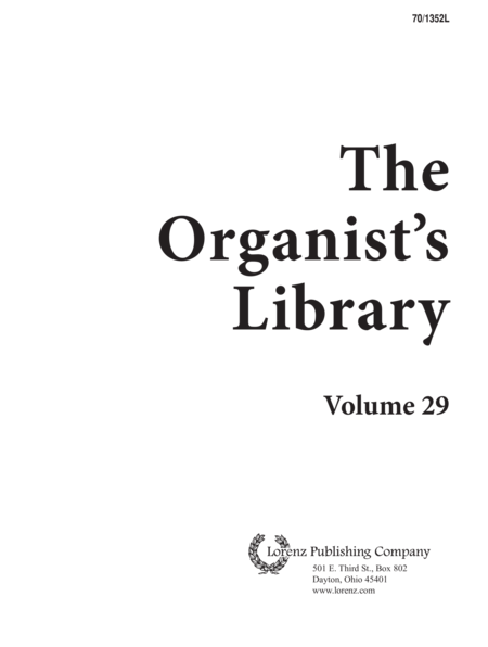 The Organist's Library, Vol. 29