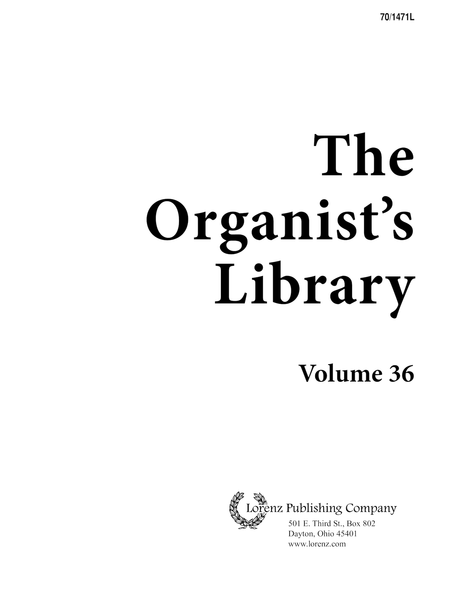The Organist's Library, Vol. 36