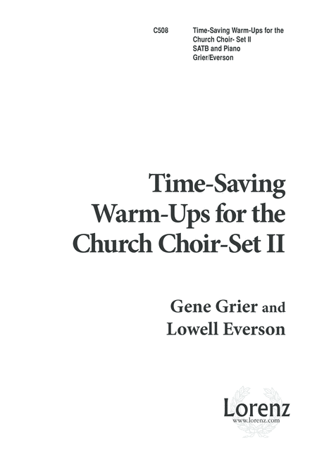 Practical Time-Saving Warm-Ups - Church Choir Set II