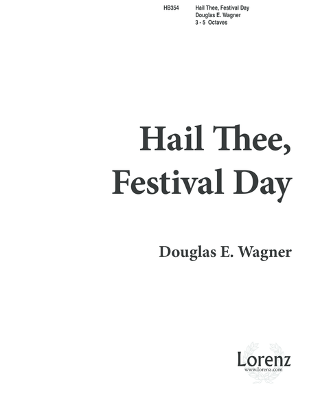 Hail Thee Festival Day