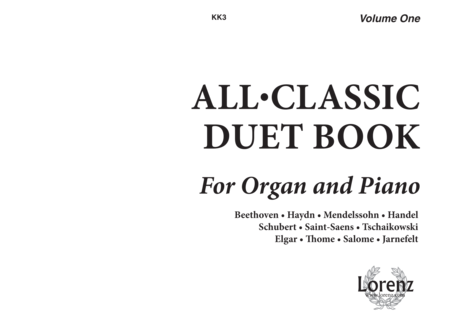 All Classic Duet Book For Organ And Piano No 1