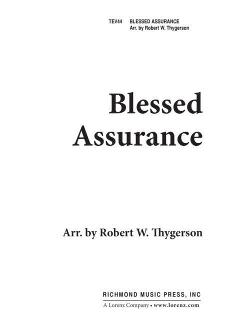 Blessed Assurance - 2pt