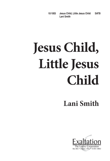 Jesus Child Little Jesus Child