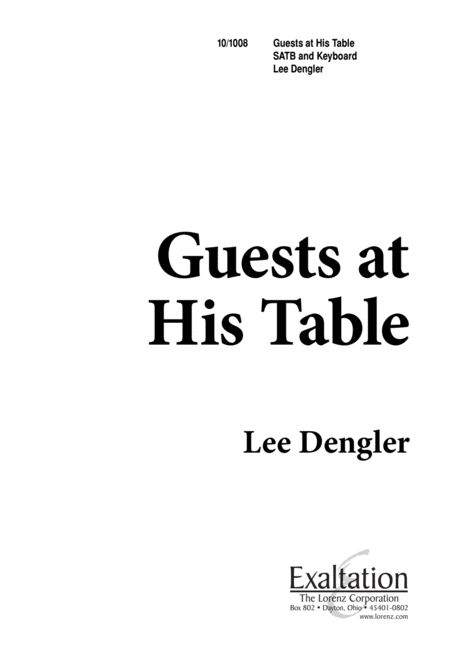 Guests at His Table