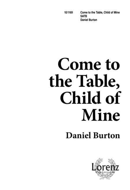 Come to the Table, Child of Mine