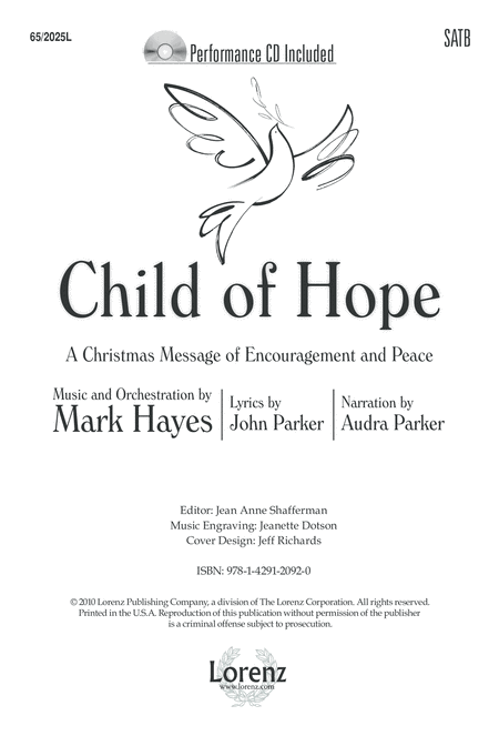 Child of Hope - SATB Score