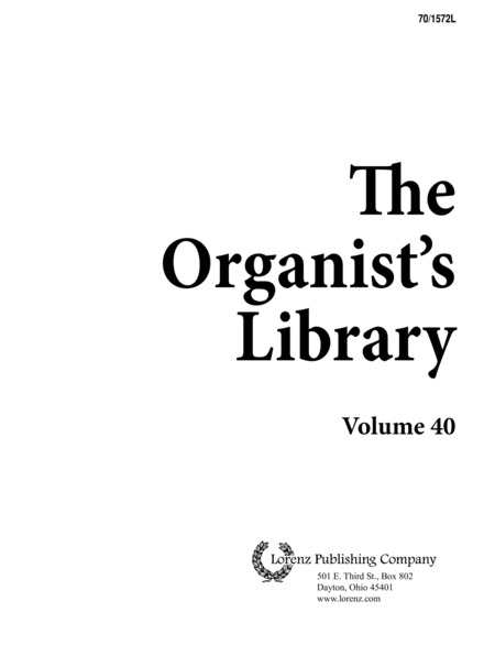 The Organist's Library, Vol. 40