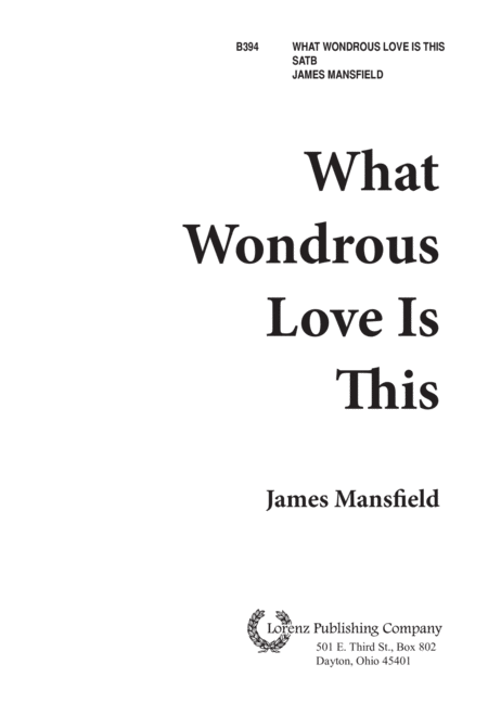 What Wondrous Love is This!
