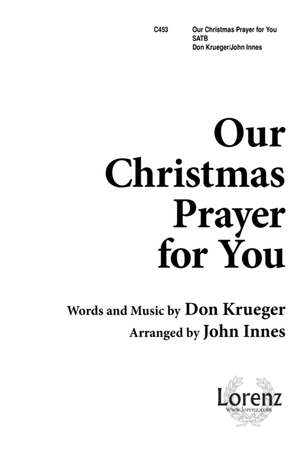 Our Christmas Prayer for You