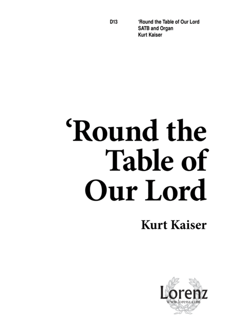 Round the Table of Our Lord