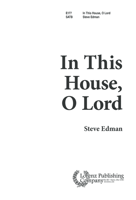 In this House, O Lord