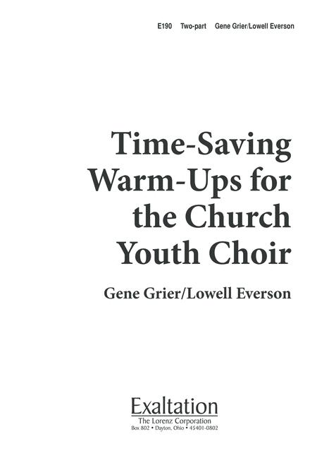 Time-Saving Warm-Ups for Church Youth Choir
