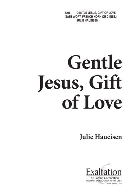 Gentle Jesus, Gift of Love