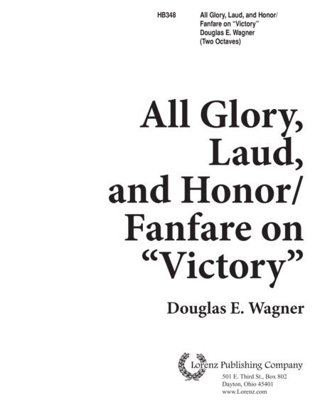 All Glory, Laud and Honor/Fanfare on Victory