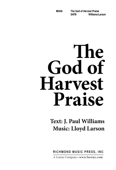 God Of Harvest Praise The
