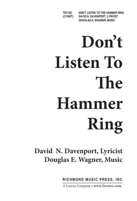 Do Not Listen to the Hammer Ring
