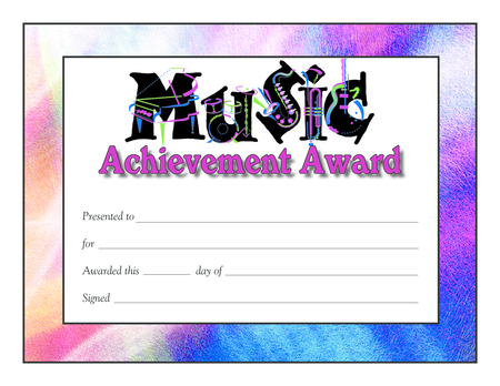 Award Certificates - Music Logo Design