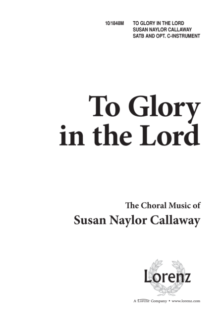 To Glory in the Lord