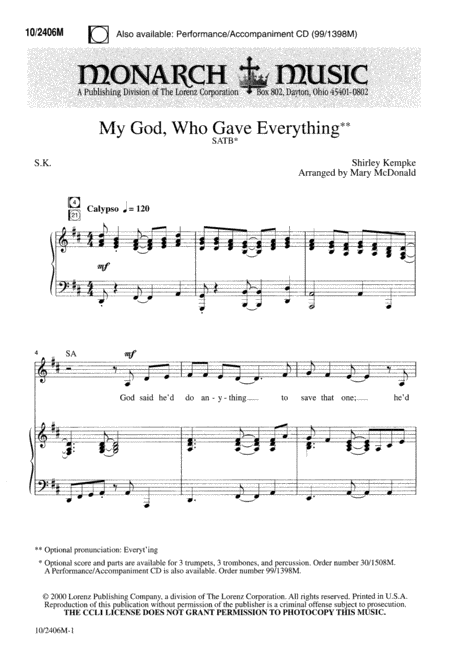 My God, Who Gave Everything