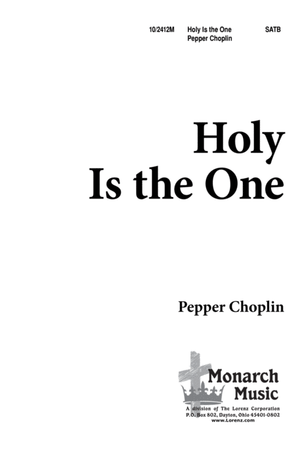 Holy is the One