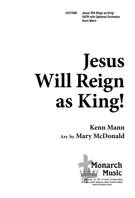 Jesus Will Reign as King