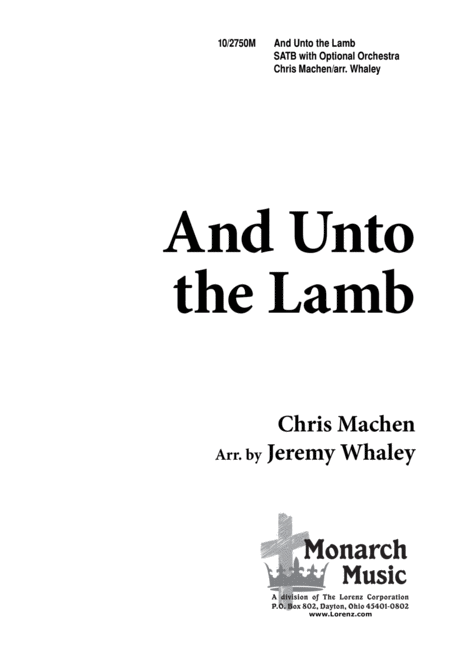 And Unto the Lamb
