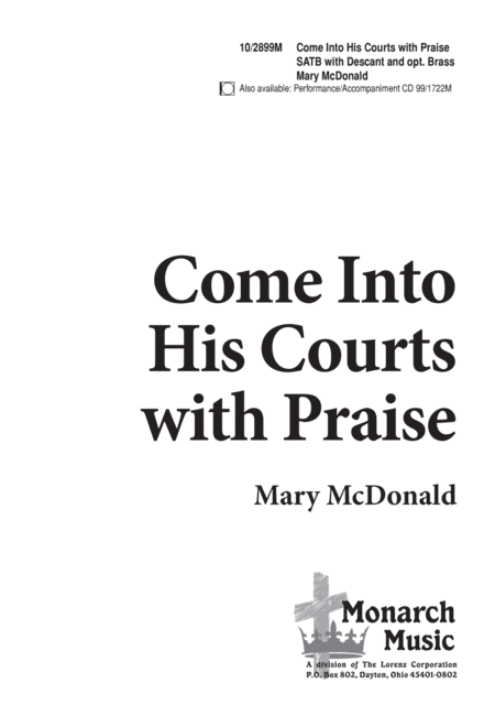 Come into His Courts with Praise