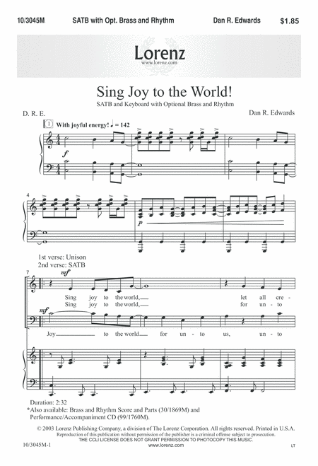 Sing Joy to the World