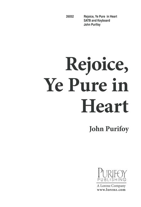 Rejoice, Ye Pure in Heart
