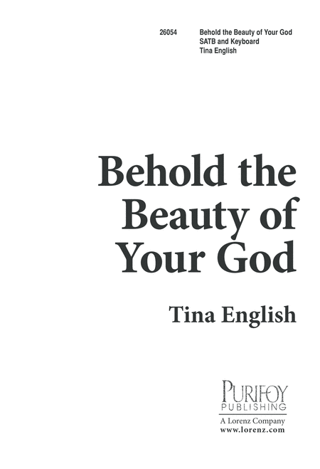 Behold the Beauty of Your God