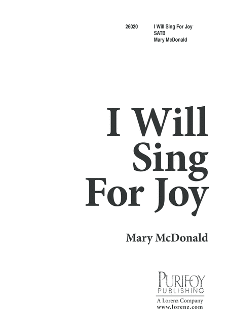 I Will Sing for Joy