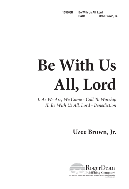 Be With Us All, Lord