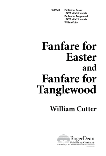 Fanfare for Easter and Fanfare for Tanglewood