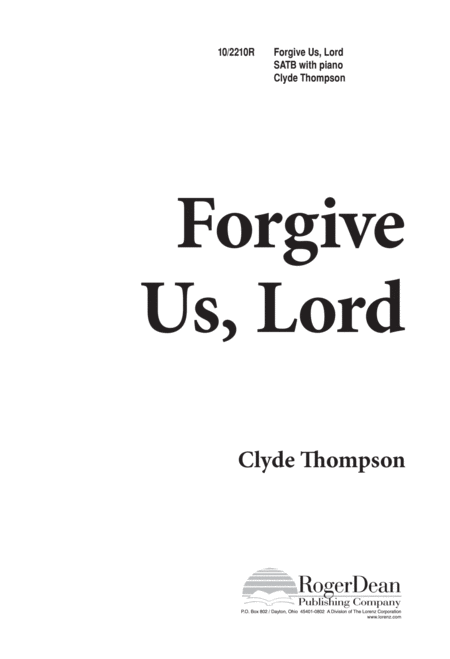 Forgive Us, Lord