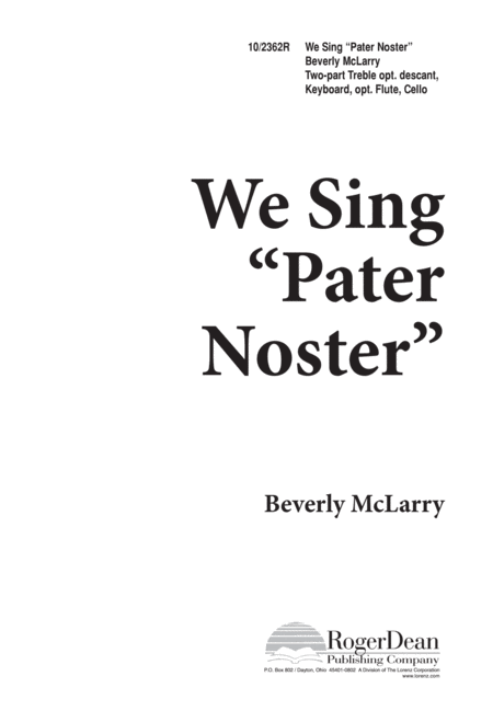We Sing Pater Noster