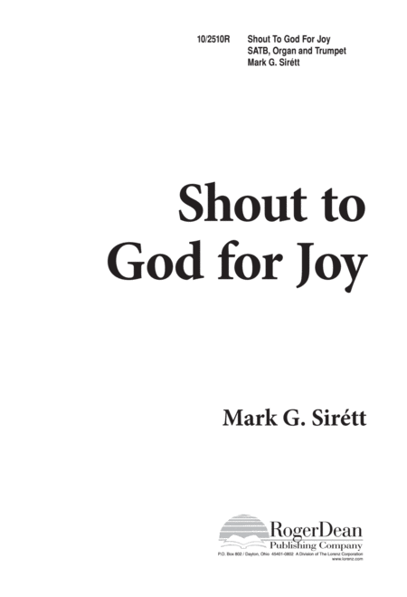 Shout to God for Joy