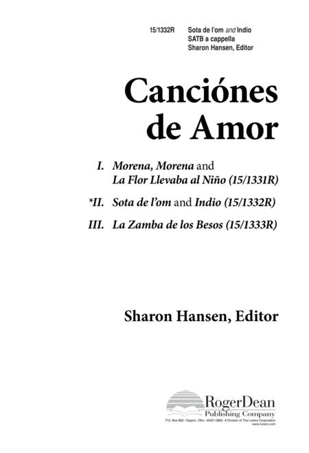 Canciones de amor sota de lom/Indio