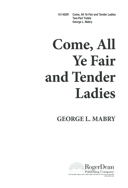 Come, All Ye Fair and Tender Ladies