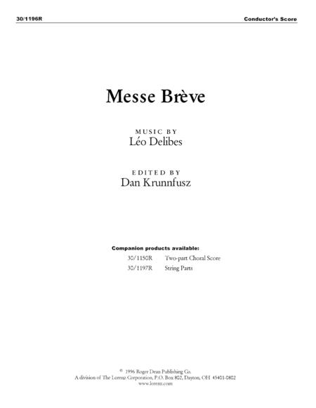 Messe Breve - Conductor's Score