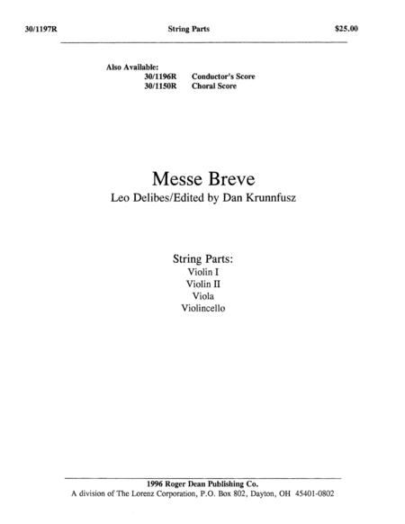 Messe Breve - String Parts